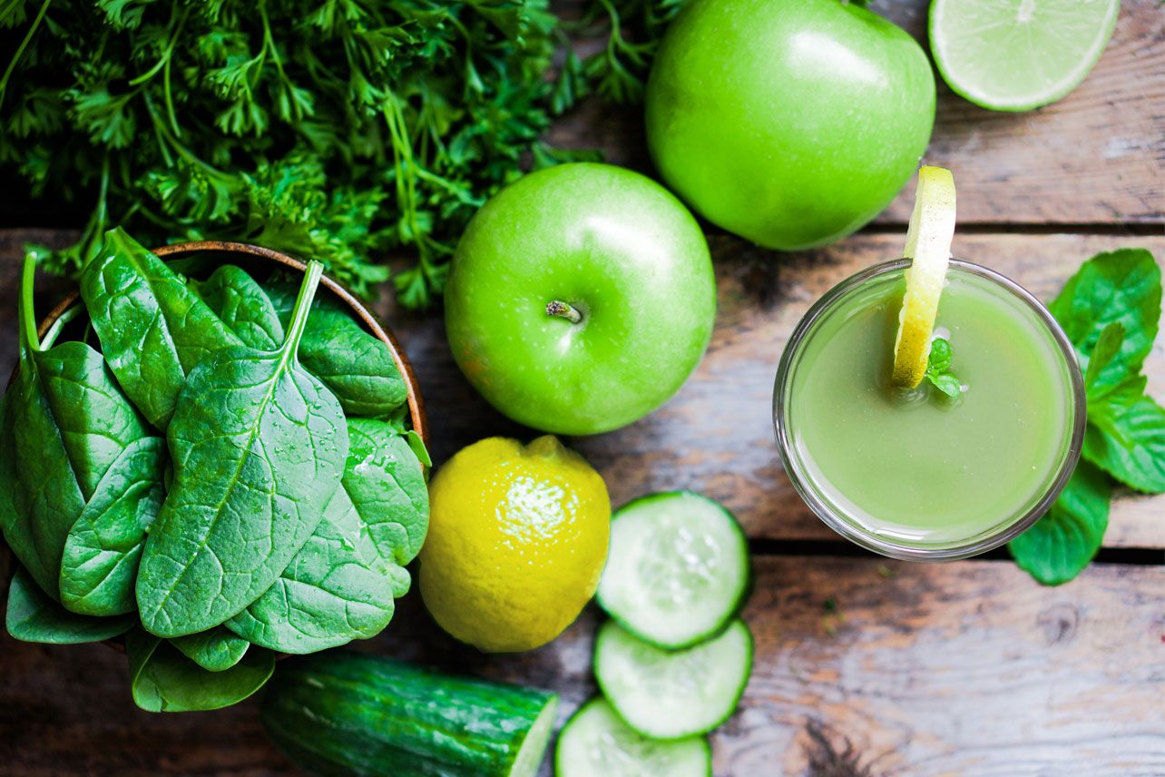 Raw Organic Food And Juices