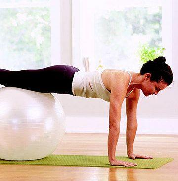 Stability-Ball Workout Modified Push-Up Dubai
