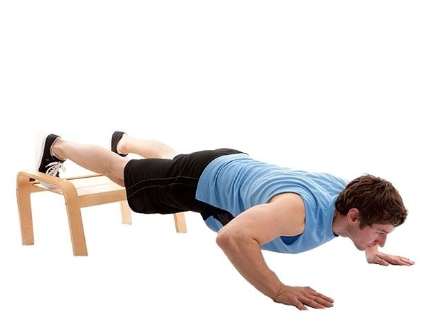 Decline Legs up push-ups