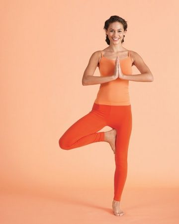 Feet Tree Pose for building legs and balance