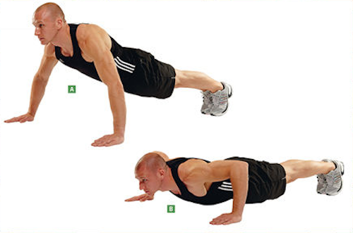 Wide grid push-ups