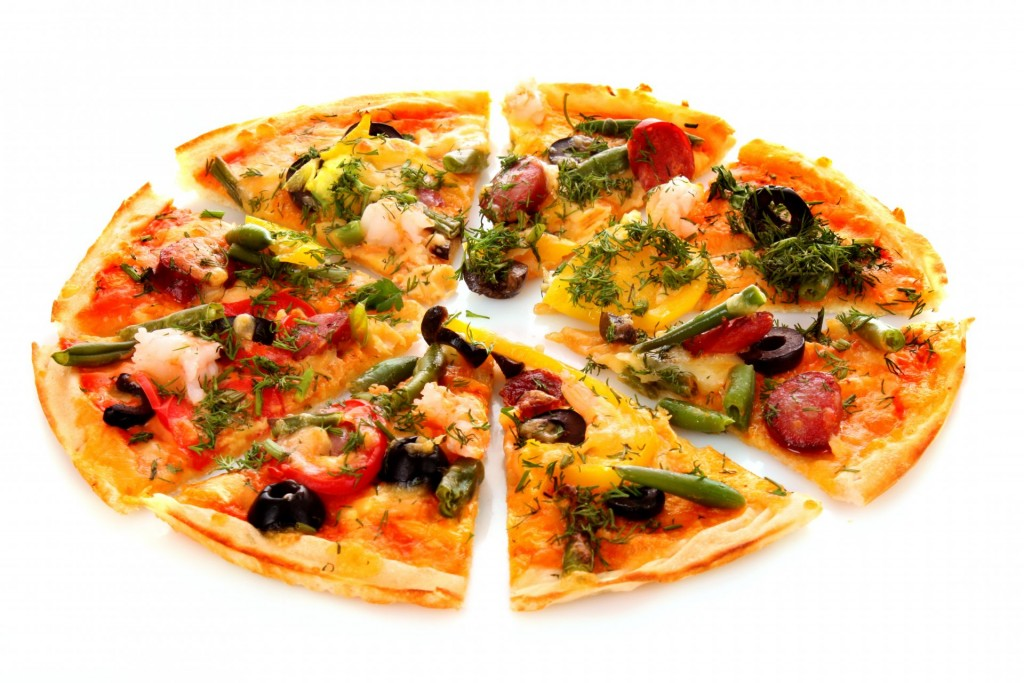 Roasted Bell Pepper and Olive Pizza