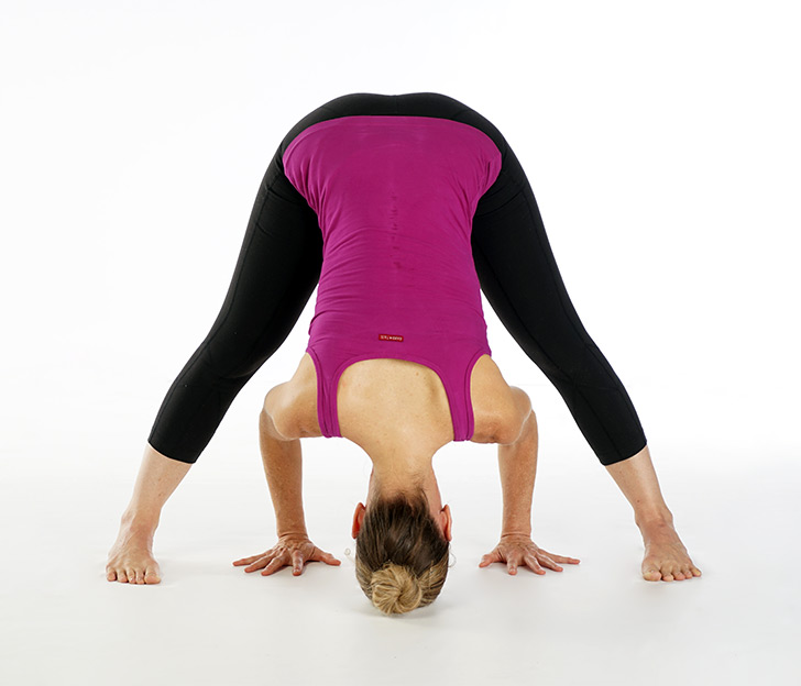 Wide-legged forward fold pose