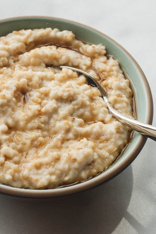 Oatmeal made with water