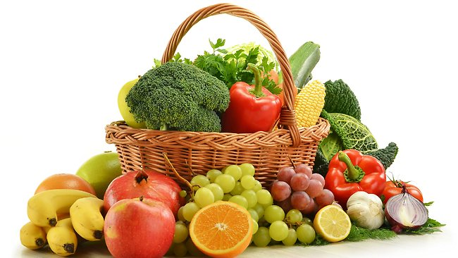 basket of fruits and vege